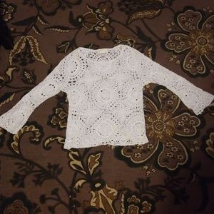 White Crocheted sweater